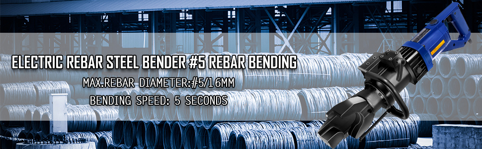 Manual Pipe Benders Rebar Bender 800W RB16mm Electric Hydraulic 5s ...
